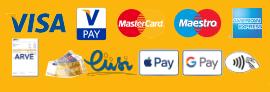 Maksevõimalused: Visa, V Pay, MasterCard, Maestro, Amereican Express, Arvega, Sularahas, Liisi järelmaksuga, Apple Pay, Google Pay, Kontaktivabalt